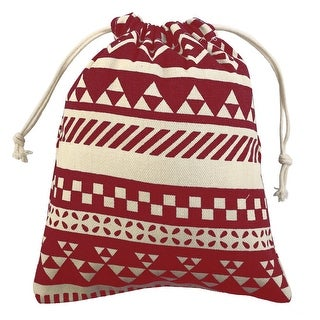 National Style Sundries Storage Candy Gift Pouch String Drawstring Bag Red Small