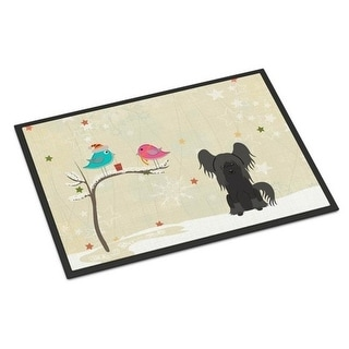 Carolines Treasures BB2584MAT Christmas Presents Between Friends Chinese Crested Black Indoor or Outdoor Mat 18 x 0.25 x 27 in.