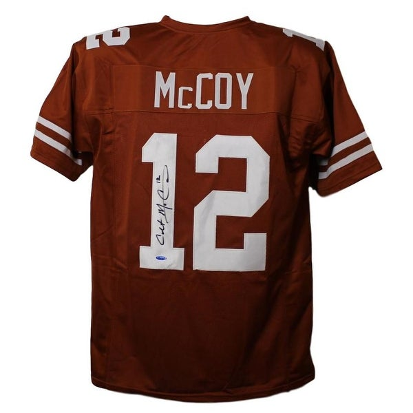 Shop Colt McCoy Autographed Texas Longhorns Orange XL Jersey Tristar - Free  Shipping Today - Overstock - 23500357 ebd947552