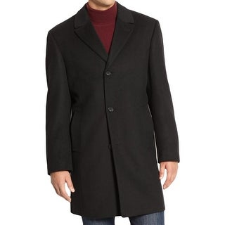 Izod Mens Pea Coat Wool Long Sleeves