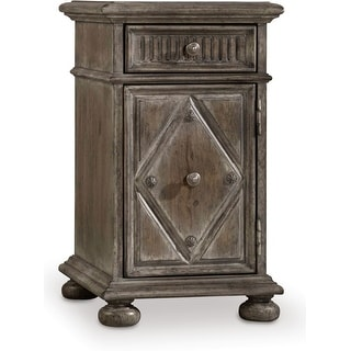 """Hooker Furniture 5701-80114  14"""" Wide 1 Drawer Hardwood Nightstand from the True Vintage Collection - Soft Whitewashed Driftwood"""