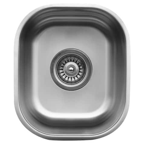 """Karran 12"""" Undermount Stainless Steel Bar/Prep Sink"""