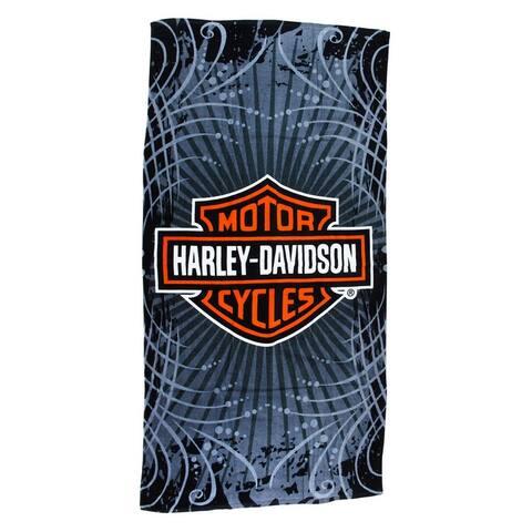 Harley-Davidson Vibe Velour Beach Towel 30 in. X 60 in. - Orange