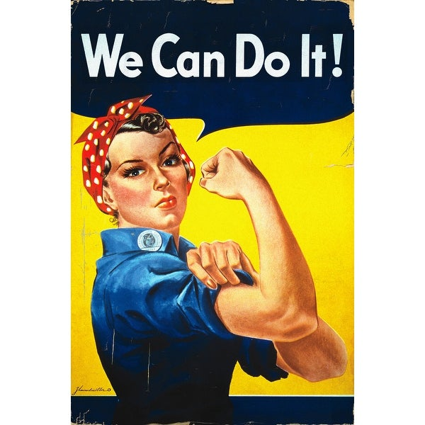Rosie the Riveter We Can Do It Vintage Propaganda (100% Cotton Towel Absorbent)