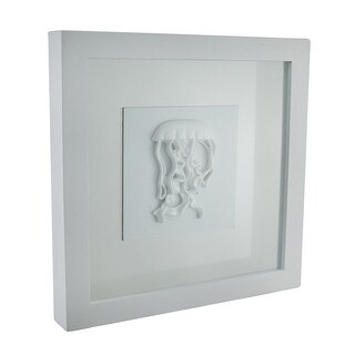 Framed White Jellyfish Shadowbox Wall Hanging
