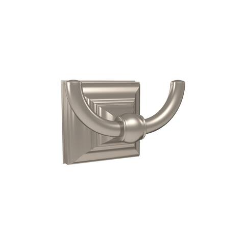 Markham Double Prong Robe Hook in Brushed Nickel - 2-5/16 in.