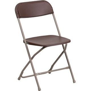 Rivera Heavy Duty Plastic Folding Chair, Brown