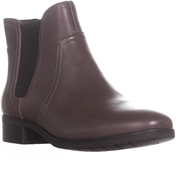 Easy Spirit Nalli Chelsea Ankle Booties, Dark Taupe/Black - 9 us