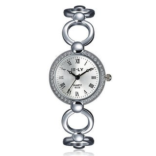 Laser Cut 18K White Gold Watch - Silver