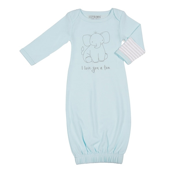 Izzy & Owie Infant's Soft Sayings Newborn Gowns Long Sleeve Mitten Cuffs 0-3 mo.
