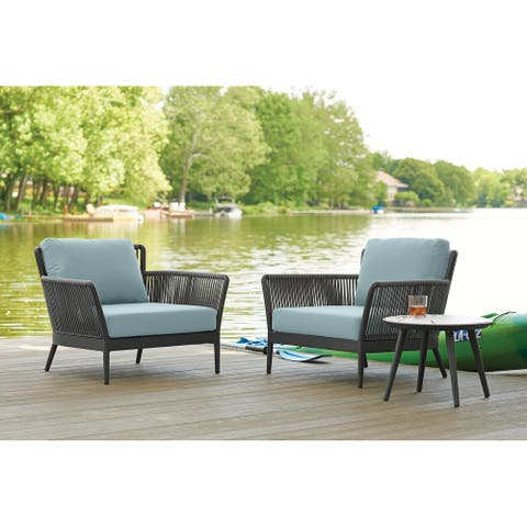 Enna 3-piece Carbon Club Chair and Table Set by Havenside Home