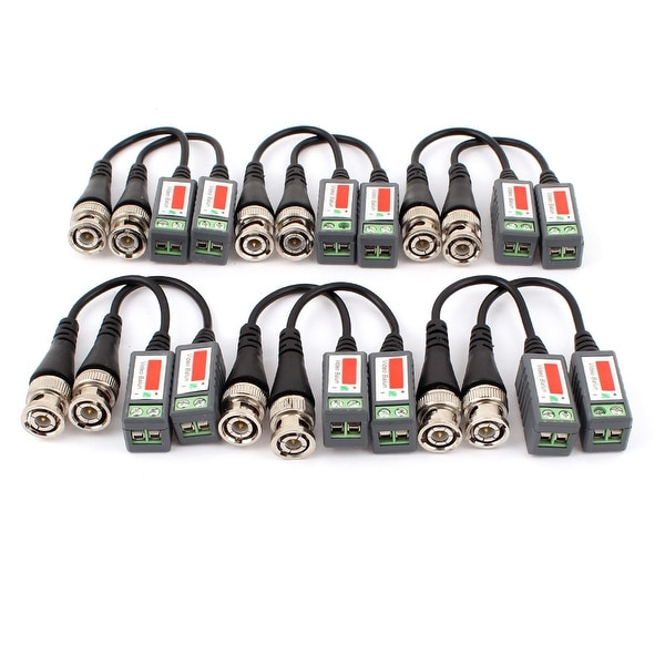 CCTV Camera BNC Video Balun Passive Cat5 UTP Coaxial Cable Adapter 12pcs