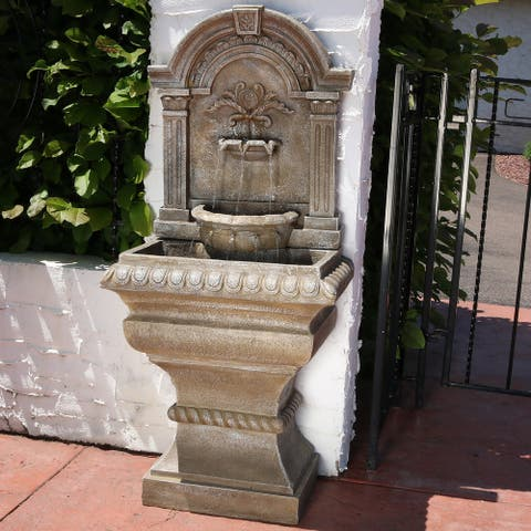 """Ornate Lavello Outdoor Water Fountain Backyard Water Feature - 51"""""""