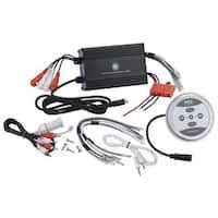 Bluetooth Marine Amplifier, 1200 Watt 4-Channel Water Resistant Amp (Black)