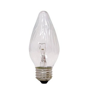 GE 75337 Flame Shape Decorative Ceiling Fan Light Bulb, 25 Watts, 120 Volt