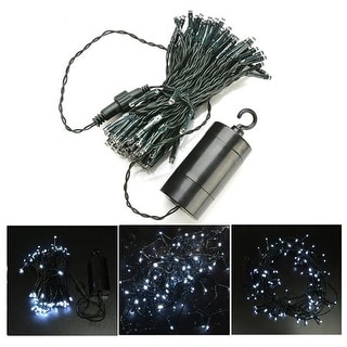 384 Inch 100 LED 8 model USB/Battery Operated 2-way Light String+Timer Battery Case - SIZE