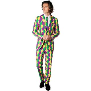 Oppo Suits Harleking Suit Adult Costume - purple/green/gold