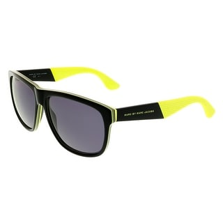 Marc Jacobs MMJ417/S 05WV Black/Neon Yellow Rectangle Sunglasses - Black/Neon Yellow - 57-15-140