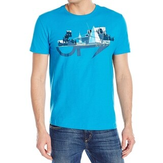 Nautica NEW Blue Mens Size Large L Yacht City Graphic Tee T-Shirt