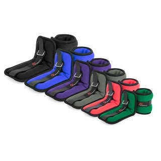 ProSource Ankle Wrist Weights Set of 2, Comfort Fit Adjustable 1 to 5 lb (Option: Green)