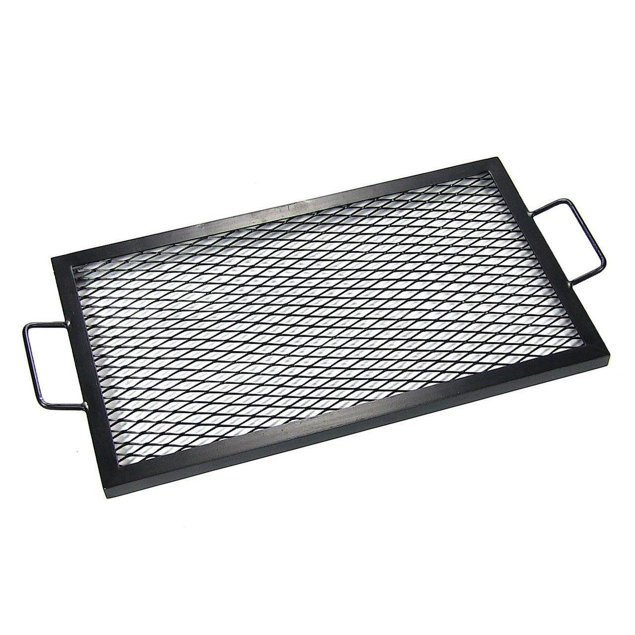 Sunnydaze X-Marks Rectangle Fire Pit Cooking Grill, Size Options Available - Black - Thumbnail 3