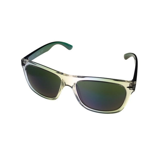 Kenneth Cole Reaction Unisex Clear Plastic Square Green Plastic Temples KC1240 26Q - Medium