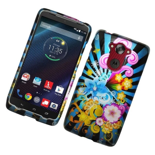 Insten Colorful Fireworks Hard Snap-on Rubberized Matte Case Cover For Motorola Droid Turbo