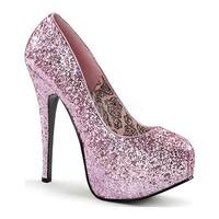 Bordello Women's Teeze 06G High Heel Baby Pink Glitter