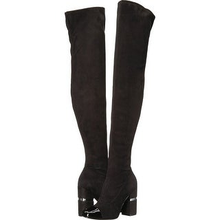 Marc Fisher Womens Petel 3 Fabric Cap Toe Over Knee Fashion Boots