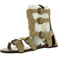 Chatties Womens 10 Gladiator Sandals Flats W/Multi Buckle Straps""