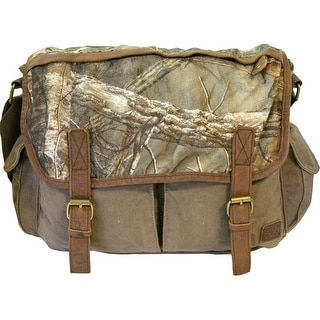 Realtree Canvas Messenger Bag with Leather Trim