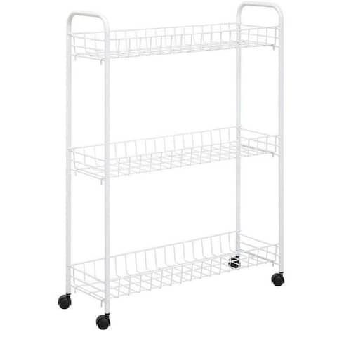 Honey Can Do CRT-01149 3-Tier Laundry Cart, White
