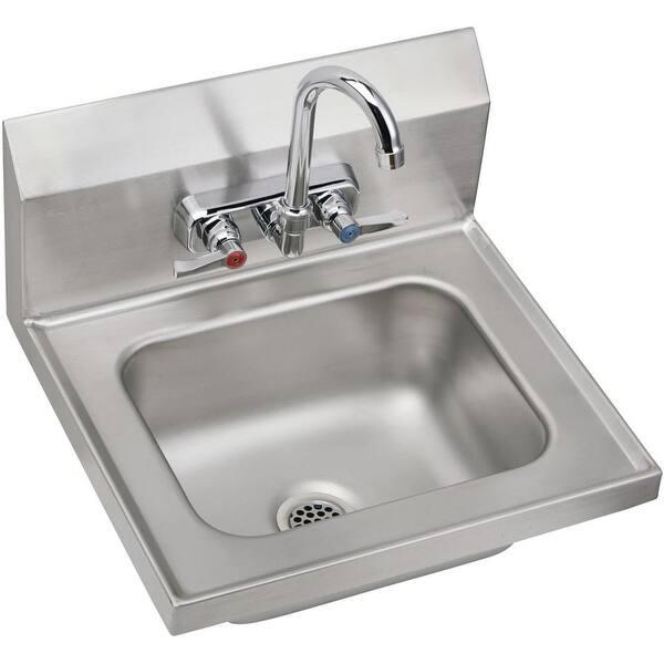 Elkay Chsb1716c 16 3 4 Single Basin Wall Mounted Stainless Steel Lavatory Sink
