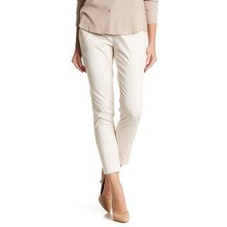 Amanda + Chelsea Beige Womens 12 Contemporary Fit Ankle Dress Pants