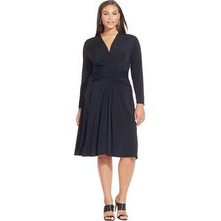 MICHAEL Michael Kors Womens Plus Cocktail Dress Faux Wrap Long Sleeves - 16W