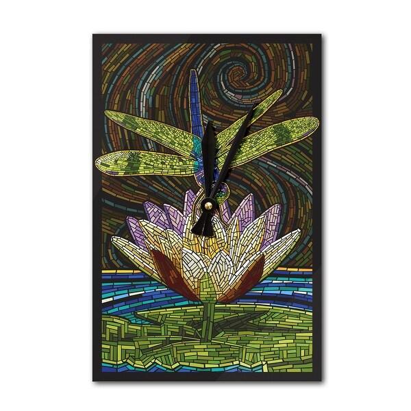 Dragonfly - Paper Mosaic - LP Artwork (Acrylic Wall Clock) - acrylic wall clock