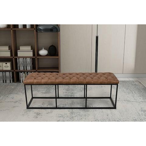 Carbon Loft DeAngelo Brown Faux Leather Decorative Bench
