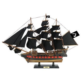 26 in. Wooden Thomas Tews Amity Sails Limited Model Pirate