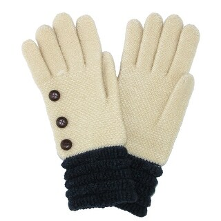 CTM® Women's Glove with Buttons