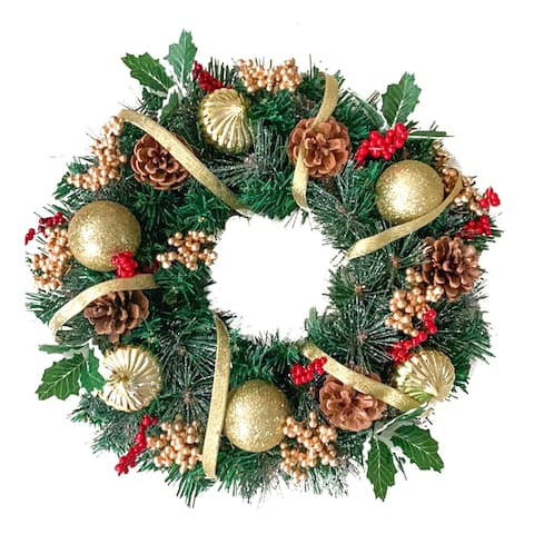ALEKO Decorative Holidays Christmas Artificial Wreath