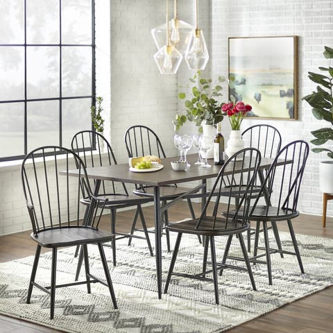 Simple Living Milo Mixed Media 7-piece Dining Set