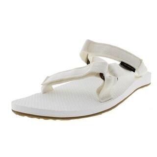 Teva Womens Textured Flat Slide Sandals