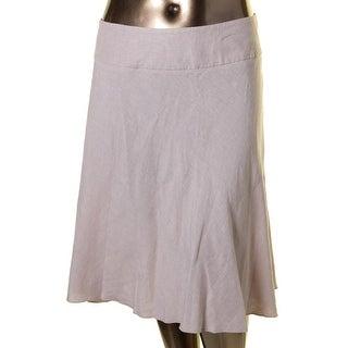 Nic + Zoe Womens Flare Skirt Linen Flare