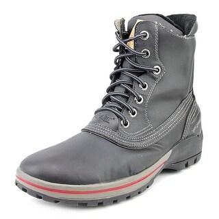 Pajar Baird Men Round Toe Leather Black Snow Boot