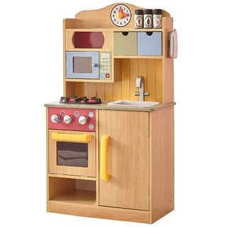 Teamson Design Corp Little Chef BurlyWood Kitchen with Accessories