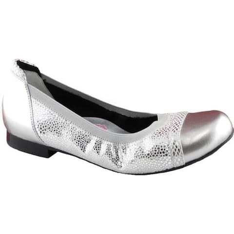 Ros Hommerson Women's Ronnie Ballet Flat Silver Leather