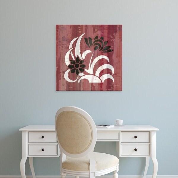 Easy Art Prints James Burghardt's 'Glyphic Tiles I' Premium Canvas Art