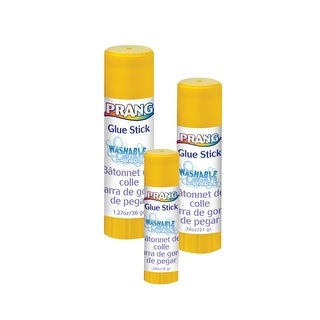 Prang Non-Toxic Odorless Washable Glue Stick, 0.28 oz, Clear