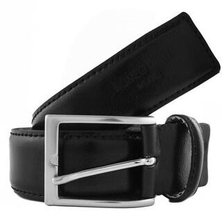 Romeo Gigli U284/35 NERO Black Leather Adjustable Belt