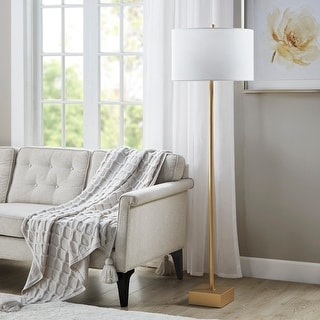 "Link to Bringham Gold Floor Lamp by Hampton Hill - 18""W x 18""D x 60.5""H Similar Items in Floor Lamps"